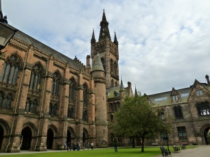 Cour intérieure de l'Université de Glasgow, Ecosse