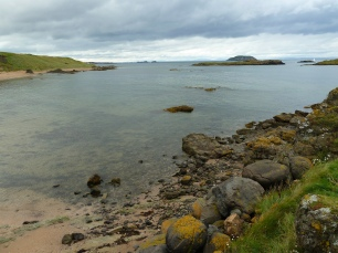 Crique à North Berwick en Ecosse