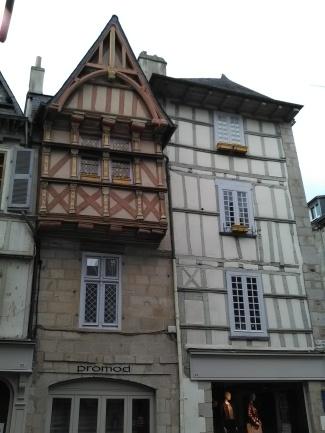 Façade d'une maison à colombages - Quimper