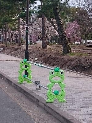 Barrière grenouille, Japon