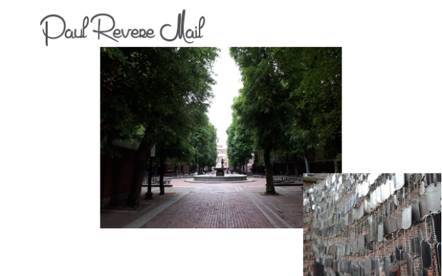 Paul Revere Mail, Freedom trail, Boston