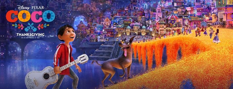 Affiche officielle du film Disney-Pixar : Coco